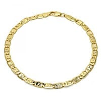 Gold Layered 04.63.1340.10 Basic Anklet, Polished Finish, Golden Tone