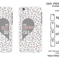 BFF Leopard Print Best Friend Matching Phone Cases - 365 Printing Inc