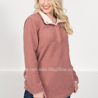 Dusty Rose Fleece Pullover