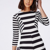 Missguided - Contrast Stripe Romper Monochrome