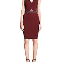 LaPINA by David Helwani - Natalia Sheer-Inset Colorblock Sheath Dress - Saks Fifth Avenue Mobile
