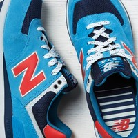AEO Men's New Balance Out East 574 Sneaker (Blue)