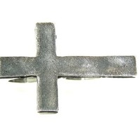 Metal Cross Double Ring Adjustable Knuckle Silver Christian Punk Fashion Jewelry