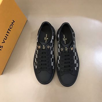 lv louis vuitton men fashion boots fashionable casual leather breathable sneakers running shoes 783