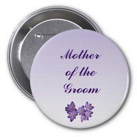 Purple Spring Floral Mother of the Groom Pin