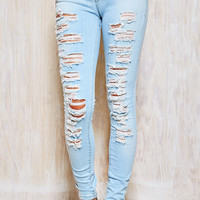Low Rise Ripped Skinny
