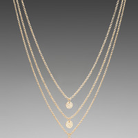 gorjana 3 Disc Shimmer Layer Necklace in Gold