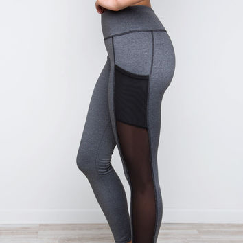 Make A Point Leggings - Gray