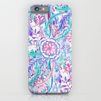 Boho Flower Burst in Pink and Teal iPhone & iPod Case by Micklyn | Society6