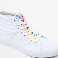 Vans Sk8-Hi Reissue 66 White Red and Navy Shoes at PacSun.com