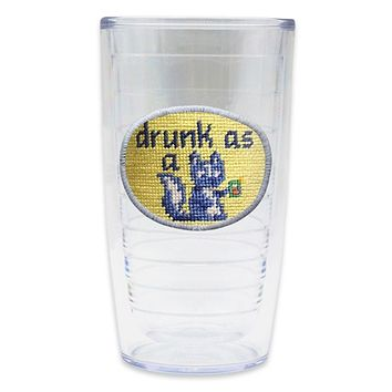 Drunk as a Skunk Needlepoint Tumbler by Smathers & Branson