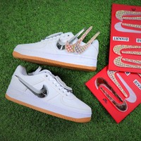 Travis Scott x Nike Air Force 1 AF1 100th Sport Shoes - Sale