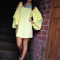 Can't Hold Me Back Dress: Yellow | Hope's