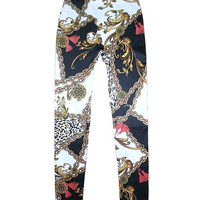 Floral Chain Print Leggings