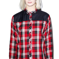 ARSNL Kennedy Button Down Red/Black