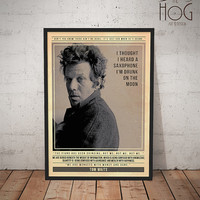 Tom Waits - Quote Retro Poster - Music Legends Series
