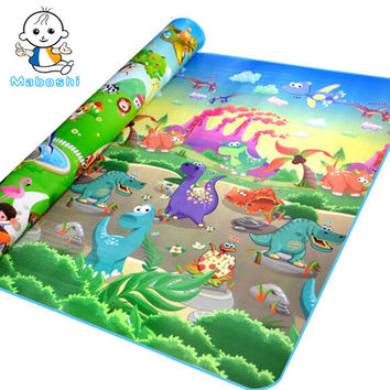 Authorized Authentic Maboshi Doulble-Site Zoo& Dinosaur Baby Play Mat Child Beach Mat Picnic Carpet Baby Crawling Mat CM-1010