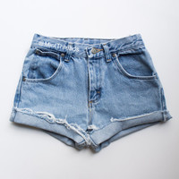 "ALL SIZES Vintage ""ZUES"" High Waisted Denim Shorts"