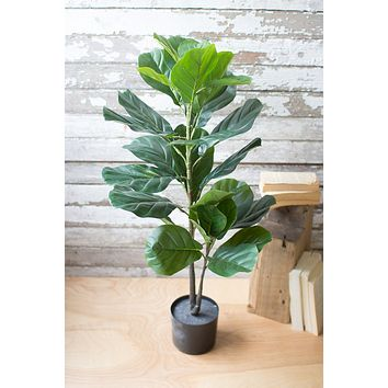 Artificial Fiddle Leaf Fig In A Pot