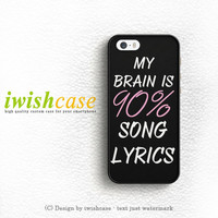 Cool Brain Song Music Cute Funny Quote iPhone 4 | 4S Case Cover