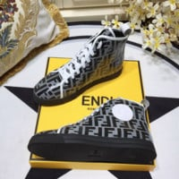 FENDI Leather sports shoes
