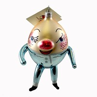 Laved Italian Ornaments HUMPTY DUMPTY BLUE Glass Egg Nursery Rhyme 94251