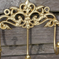 GOLD Shabby Chic Princess Hook / Jewelry Holder / Key Holder / Key Rack / Hanger / Wall Hook