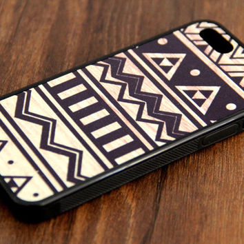 Retro Aztec iPhone and Samsung Galaxy Rubber Case
