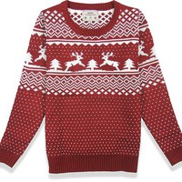 Women's Patterns of Reindeer Snowman Tree Snowflakes Christmas Sweater Cardigan (XL, Deer&Tree)