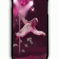 iPhone 6S Plus Case - Hard (PC) Cover with Stripper Sloth Plastic Case Design