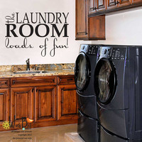 The Laundry Room - vinyl wall decal sticker wall art