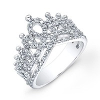 Victoria Kay 1/6ct White Diamond Crown Ring in Sterling Silver
