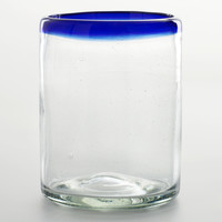 Blue Rocco Double Old Fashioned Glasses, Set of 4 - World Market