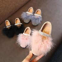 Feather Shoes in Black, Pink or Grey