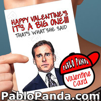 Funny Valentine Card | The Office | The Office Card Michael Scott Valentines For Men Valentine Boyfriend Dirty Valentine Card Girl Valentine