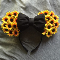 Floral mickey ears