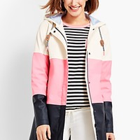 Colorblock Raincoat | Talbots