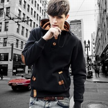 The new men's Hoody hoodie coat color of male wind tide brand men's sweater set of head of foreign trade = 9997285958