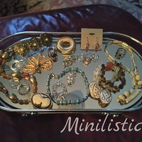 Interesting Vintage Destash Wearable Crafting Assemblage Upcycling Parts Components Jewelry  Collection Lot