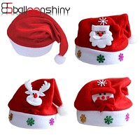 BalleenShiny Hat Baby Christmas Santa Claus Cap Kids Hat born Photography Girls Boy Winter For 2-5 years