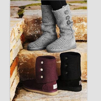 """""""UGG"""" Women Fashion Weave Wool Snow Boots (5-color)"""