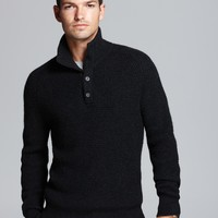 The Men's Store at Bloomingdale's Four-Button Mockneck Sweater