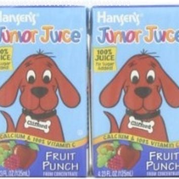 Hansen's Fruit Punch Junior Juice, 4.23 Ounce Boxes (Pack of 44)
