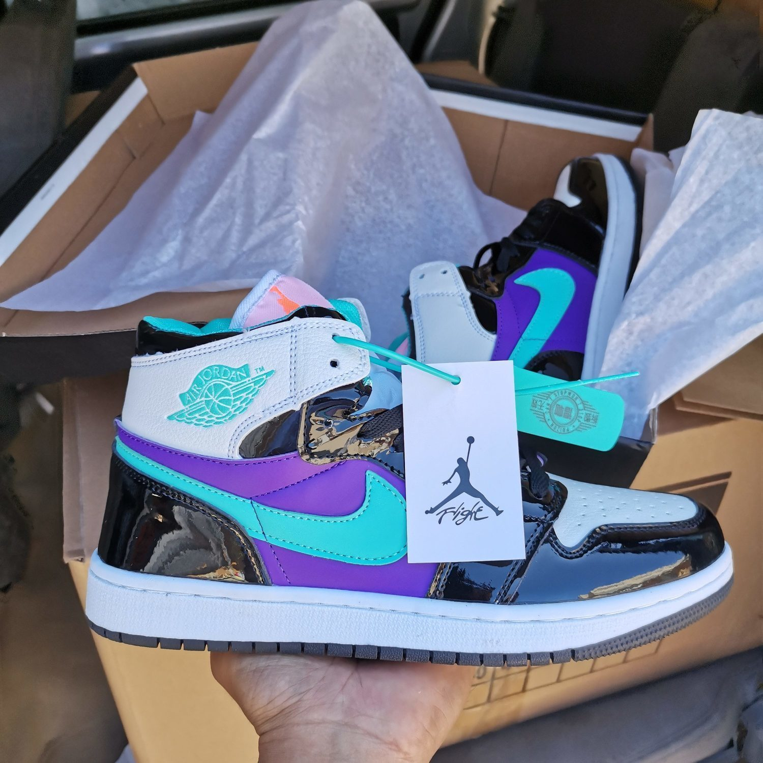 Image of Nike AIR Jordan AJ1 men's and women's high-top shoes casual all-match sports shoes