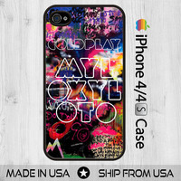 COLDPLAY Mylo Xyloto British Rock World Tour iPhone 4 4S Case Cover Skin Black White