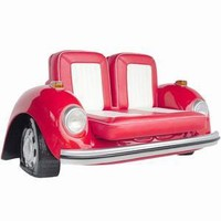 VW Beetle Sofa Red | VW Beetle Seat Novelty Furniture - Buy at Drinkstuff