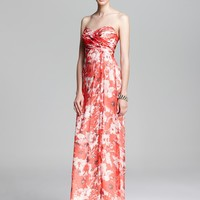 Amsale Printed Gown - Strapless   Bloomingdale's