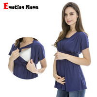 Emotion Moms Summer Maternity clothes Nursing top nursing Breastfeeding Tops pregnancy clothes for pregnant women Maternity Tops