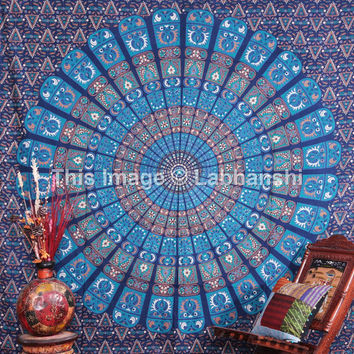 Indian Mandala tapestry, Psychedelic Mandala Tapestry, Queen Mandala, Indian Wall Hanging, Bohemian Tapestry, Beach-Sheet. Etchnic Decor Art
