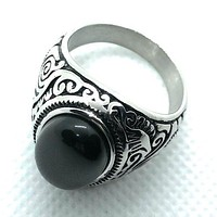 'Night Moves' Stainless Steel Ring (086)